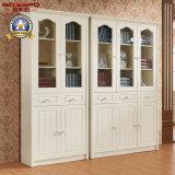 Estante para libros residencial de la pintura blanca con el vector del estudio (GSP9-024)