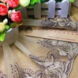 Cordón neto de nylon de la suposición del recorte del bordado del poliester del cordón de la anchura de la venta al por mayor el 14cm de las existencias de las fábricas del bordado para el accesorio de la ropa y materias textiles y cortinas caseras