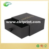 Черная коробка подарка картона скольжения с горячий штемпелевать (CKT-CB-361)