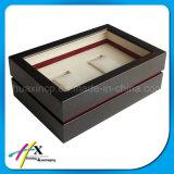 Venta al por Mayor de Relojes de Caja de Embalaje de Madera Doble Pantalla