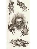 Etiqueta engomada temporal impermeable animal del tatuaje del diseño del tótem del lobo
