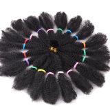 tranças sintéticas sintéticas do cabelo de Kinki Kanekalon do Afro de Ombre do Crochet do cabelo das tranças de 18inch Marley