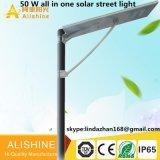 50W todo en una luz de calle solar integrada del LED con la inducción infrarroja