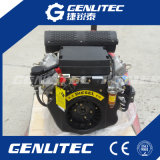 Moteur diesel démarrant électrique refroidi par air 15HP de cylindre de V-Tiwn 2 à 20HP