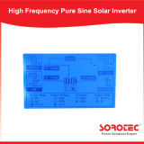 1kVA 800W del inversor de bombeo de energía solar puro de la onda de seno de la red