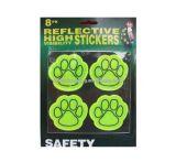 Reflectante de seguridad de PVC perro populares Etiqueta patas