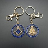 Metal maçónico Keychain/correntes chaves dos Freemasons redondos