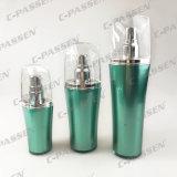 Bottiglia crema acrilica verde di lusso della lozione del vaso di nuovo arrivo per l'imballaggio dell'estetica (PPC-NEW-062)
