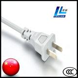 Chinesischer Netzanschlusskabel-Stecker von zwei Stiften mit CCC