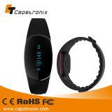 Wristband astuto dell'inseguitore di forma fisica di attività del video del braccialetto della fascia di manopola per l'IOS & Smartphone Android