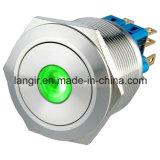 25mmの自動閉鎖2no2ncちり止めのリングの金属の反破壊者の押しボタンスイッチ