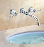 Robinet de bain en laiton à traitement de surface à montage mural