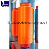 ドープ塗料によって染められるポリエステルヤーンDTY 150d/144fのマイクロのフィラメント