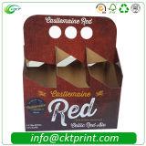 6 коробок гофрированной бумага Packcaging бутылки пакета (CKT-PB-112)