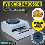 68 -文字手動浮彫りになるプリンタークレジットカード/ID/VIP/PVC Embosser機械