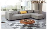 Il tessuto grigio elegante la L sofà di figura ha impostato per il salone (FS-027)
