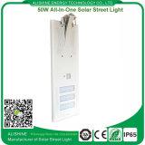 luz de calle solar toda junta de 50watts LED con el sensor de movimiento de PIR