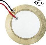 Disque en céramique piézoélectrique pour l'alarme d'avertisseur sonore avec le fil et le connecteur