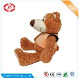 Le loup mou d'ours de peluche de peluche avec la T-Merde badine le jouet