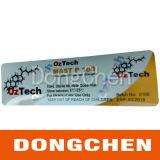 Etiqueta do tubo de ensaio do holograma da injeção da testosterona