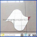 Mur décoratif rectangle irrégulier Forme 3mm 4mm Flotteur Verre Miroir argenté