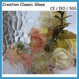 Vidrio atado con alambre verde del vidrio modelado de Nashiji para la gafa de seguridad