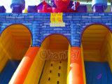 明るいカラーモンスターの子供のための膨脹可能な警備員のスライド