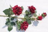 실제적인 접촉 가정 장식 결혼식 훈장을%s 실크 빨간 인공적인 로즈 꽃