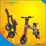 Bicicleta Elétrica Mini Folding portátil, bateria de lítio Panasonic