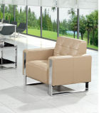 Sofà moderno del caffè del sofà del cuoio dell'hotel del sofà dell'ufficio di disegno popolare di svago in azione 1+1+3