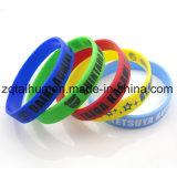 Wristband feito sob encomenda por atacado do silicone do Wristband com Thb-026