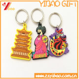 Porte-clés de PVC de logo de Bothside pour les cadeaux de promotion (YB-PK-41)