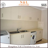 N & L White High Gloss Lacquer Laundry Cabinet Room