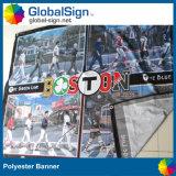 Prezzo della fabbrica della Cina migliore che fa pubblicità alla visualizzazione della bandiera del tessuto del poliestere 220g