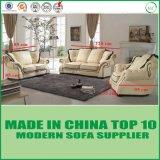 Sofá moderno Chesterfield de cuero de la sala de estar