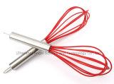 Misturador da mão do silicone para o ovo com o punho do aço inoxidável para o feriado Se01 (10 polegadas)