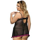 Desgaste atractivo de la noche para señora grande Plus Size Babydoll Lingerie