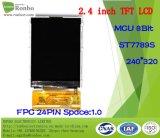 """2.4 """" étalage de TFT LCD de 240*320 MCU 8bit, IC : St7789s, FPC 24pin pour la position, sonnette, médicale, véhicules"""