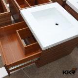 Pedra Artificial Luxury White Bathroom Counter Top Cabinet Basin