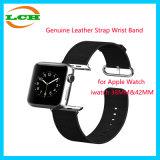 Recolocação clássica genuína da curvatura da faixa de pulso da cinta de couro para o relógio Iwatch de Apple