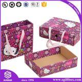 Rectángulo de papel del gatito de los cabritos del reloj de la ropa del regalo lindo de Pcakaging