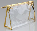 明確な方法化粧品のためのジッパーが付いている耐久PVC側面のガセット袋