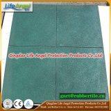 Couvre-tapis en caoutchouc de gymnastique de couvre-tapis de plancher de gymnastique de miette en caoutchouc et en caoutchouc normal