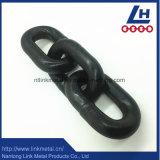 Il nero della catena a maglia di sartiame dell'acciaio legato G80 verniciato