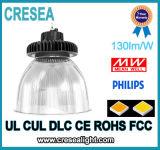 Alta luz industrial de la luz 200W de la bahía del UFO LED del lumen de la venta caliente alta con la lente de la PC