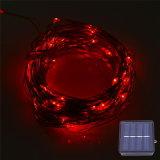 12m 120 lampes à cordes solaires LED pour jardin