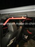 Acero rojo para la maneta delantera/trasera de la puerta del Wrangler 4 del jeep del metal del gancho agarrador