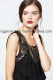 Платье женщины горячего шнурка типа сбывания нового сладостного шифоновое безрукавный
