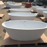 Baignoire extérieure solide moderne de baignoire en pierre de résine de Kingkonree Sanitaryware