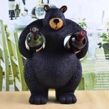 Whosale Custom Resin Big Bear Wine Holder pour Home Deco